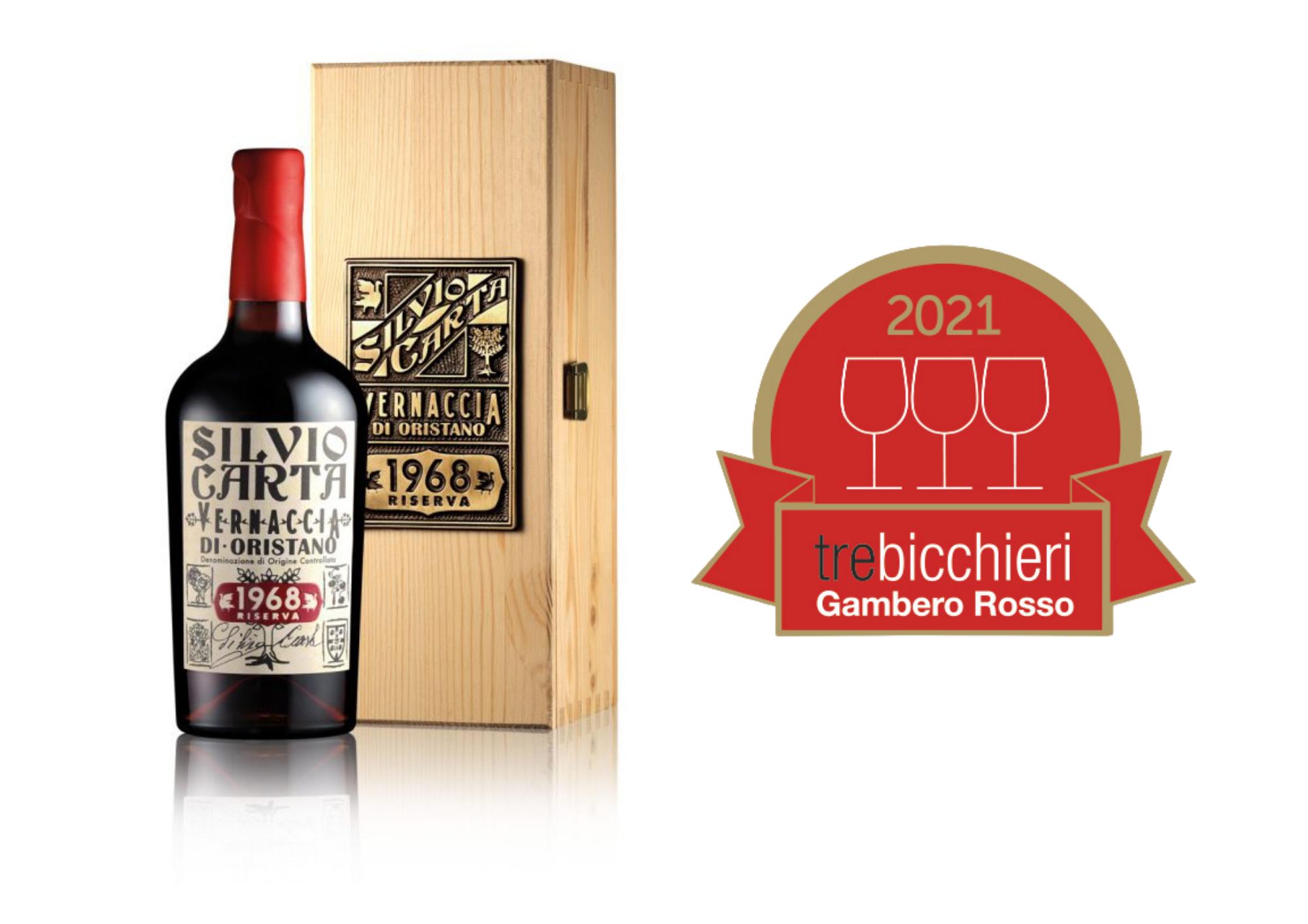 Gambero Rosso 2021: the 1968 Vernaccia di Oristano Doc Riserva is Tre Bicchieri